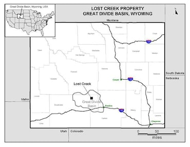 Lost Creek Property map