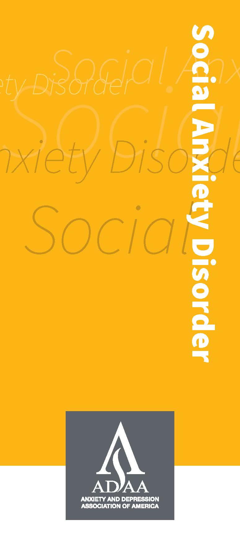 Thumbnail: ADAA Social Anxiety Disorxer Brochure